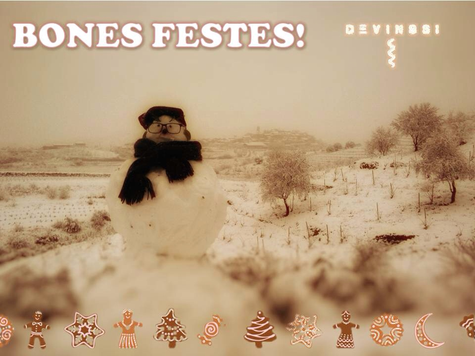 DGreetings from Priorat! We wish you a Merry Christmas and a Happy New Year!