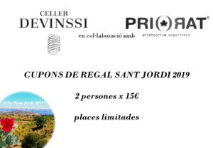 cheque regalo 2x1 Celler Devinssi Priorat Enoturisme