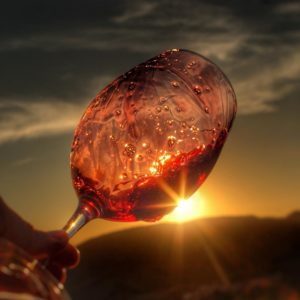 sunset wine tasting Priorat